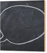 Close Up Of Blank Speech Bubble Wood Print