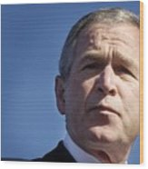 Close Up Of President George W. Bush Wood Print