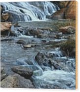 Close Up Of Reedy Falls In South Carolina II Wood Print