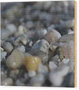 Close Up Of Rocks Wood Print