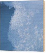 Close Up Of Snow Wood Print