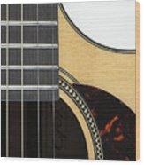 Close-up Of Steel-string Guitar Wood Print