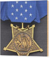 Close-up Of The Medal Of Honor Award Wood Print