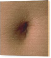 Close-up Of The Navel (belly Button) Of A Woman Wood Print