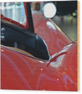 Close Up On Red Sport Car Wood Print
