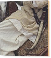 Close View Of A Scimitar On A Horseback Wood Print