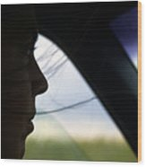 Close View Of A Woman Driving A Car Wood Print