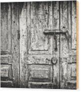 Closed Doors Wood Print