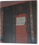 Closed For Earthquake Wood Print