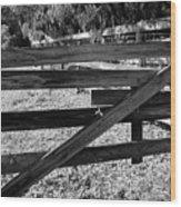 Closed Gate Wood Print