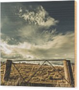 Closed Gates And Open Paddocks Wood Print