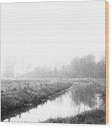 Closed Zone Wood Print