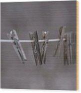 Clothes Line Wood Print