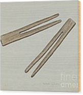 Clothes Pins Wood Print