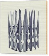 Clothespin Wood Print