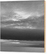 Cloud Above Lake Simcoe Bw  Wood Print