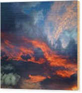 Cloud Abstract 1 Wood Print