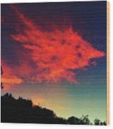 Cloud And Tree Wood Print