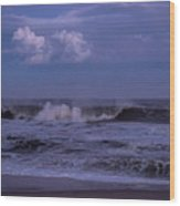 Cloud And Wave Seaside New Jersey Wood Print