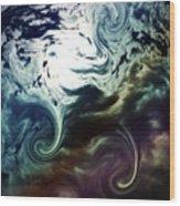 Cloud Art Wood Print