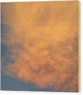 Cloud At Sunset Wood Print