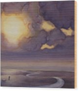 Cloud Break On The Northern Plains II Wood Print