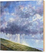 Cloud Burst Ireland Wood Print
