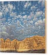 Cloud Burst Wood Print