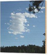 Cloud Busting Wood Print