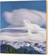 Cloud Cap Wood Print