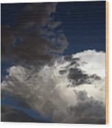 Cloud Collide Wood Print