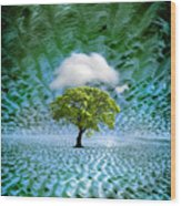 Cloud Cover Recurring Wood Print