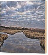 Cloud Covered River 2 Wood Print
