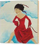 Cloud Dancing Of The Sky Warrior Wood Print