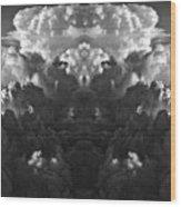 Cloud Explosion Wood Print