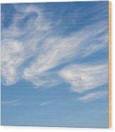 Cloud Faces Wood Print