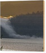 Cloud Fall On Crescent Lake Wood Print