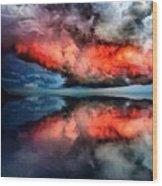 Cloud Fantasia Reflected L A S Wood Print