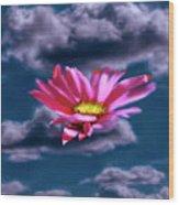 Cloud Flower.  Wood Print