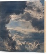Cloud Formations Boiling Up Wood Print