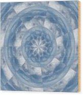 Cloud Fractal Wood Print