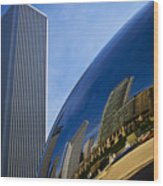 Cloud Gate And Aon Center Wood Print