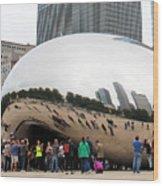 Cloud Gate Chicago Color 4 Wood Print