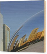 Cloud Gate - Reflection - Chicago Wood Print