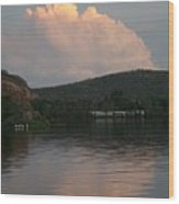 Cloud Lake Reflection Wood Print