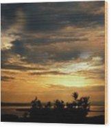 Cloud Landscape. On The Aegean Sea.  Wood Print