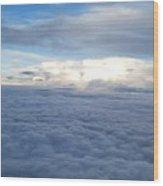 Cloud Landscape Wood Print