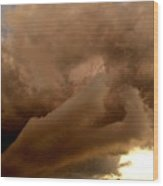 Cloud Layers Wood Print