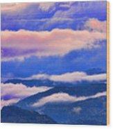 Cloud Layers At Sunset Wood Print