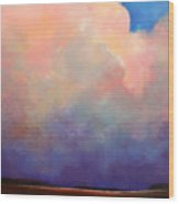 Cloud Light Wood Print by Toni Grote